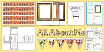 All about Me Display Pack - back to school, Classroom display, EYFS, KS1, Year 1, reception