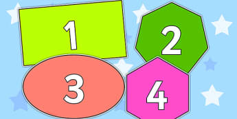 0 31 on 2D Shapes - 0-31, number, display, 2D, shapes, 2D shape