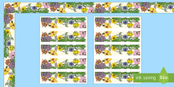 Floral Display Borders - Classroom, Display, Floral, flower, plants, petal,