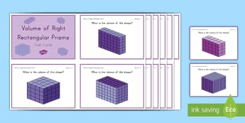Volume of Right Rectangular Prisms Challenge Cards - volume, cube, cubic, right rectangular prisms, height, length, width