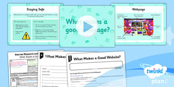 PlanIt - Computing Year 5 - Internet Research and Webpage Design Lesson 1: What Makes a Good Webpage? Lesson Pack - planit, computing