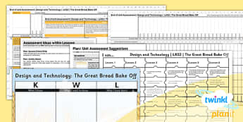 D&T: The Great Bread Bake Off LKS2 Unit Assessment Pack