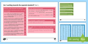 *NEW* Y6 Writing Assessment I Can Statements with Worked Examples - writing, year 6, Y6, assessment, exemplifications, assessment framework, child-friendly, checklist, I can statements, guidance