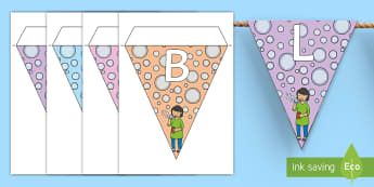 Bubble Station Display Bunting - Requests KS1, bubbles, display, areas of classroom,