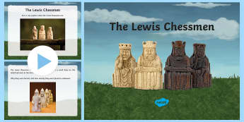 The Lewis Chessmen Information PowerPoint - CfE Expressive Arts, art, design, lewis, gaming pieces, chess, models, Vikings,Scottish