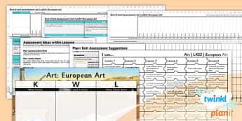 Art: European Art LKS2 Unit Assessment Pack