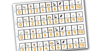Farmer Duck Number Track 0 10 - farmer duck, number tracks, 0-10, farmer duck number tracks, themed number tracks, numeracy, maths, number line, counting