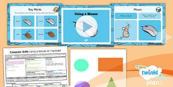 Computing: Computer Skills: Using a Mouse or a Trackpad Year 1 Lesson Pack 1