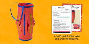 Chinese Lantern Craft EYFS Adult Input Plan and Resource Pack - pack, chinese lantern, craft, eyfs, adult input, plan