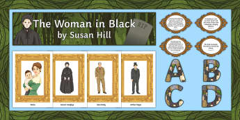 The Woman in Black Display Pack  - The Woman in Black, display, banner, border, lettering, quotes.