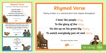 Verse Forms Poetry Terms A4 Display Poster - Literacy, Interpreting, analysing, evaluating, english, poetry, writing, poems, poetry, verse, gloss
