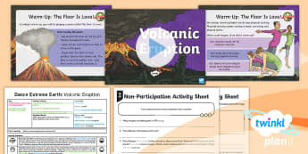 PE Year 3 Dance Extreme Earth Lesson 1 Volcanic Eruption - Dance Extreme Earth, PE, Physical Education, Improvisation, Volcanoes, Y3, LKS2 Gymnastics, Dance An