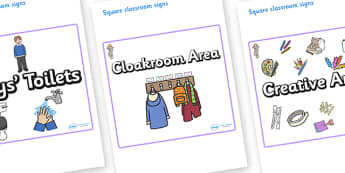 Selkie Themed Editable Square Classroom Area Signs (Plain) - Themed Classroom Area Signs, KS1, Banner, Foundation Stage Area Signs, Classroom labels, Area labels, Area Signs, Classroom Areas, Poster, Display, Areas