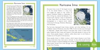 Hurricane Irma Fact File - Hurricane, Harvey, Irma, Tropical Storm, Storm, Flooding, Storm Surge, Florida, Puerto Rico, Cuba, U