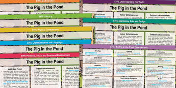 EYFS Lesson Plan and Enhancement Ideas to Support Teaching on The Pig in the Pond - pig in the pond, EYFS