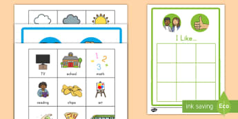 All About Me 'I like' and 'I don't like' Sorting Activity - All About Me - ourselves, SEN, writing template, writing aid , oursleves, ourselvs, tempelte, all bo