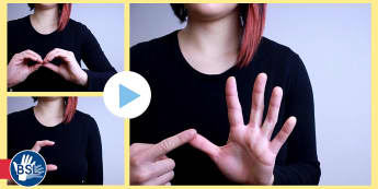 How Fingerspell Alphabet British Sign Language Close Video Clip