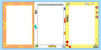 Maths Page Borders - maths, numeracy, math, borders, border