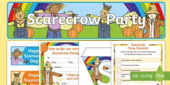Scarecrow Party Checklist - fall, autumn, fall party, autumn party