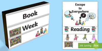 Book Week Light Box Inserts - Australia, EYLF, Foundation, Book Week, Escape to Everywhere, Display, Light Box, Kindergarten, Pre-