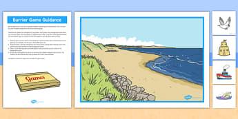 Beach Barrier Game - beach, barrier, game, activity, class, board