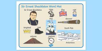 Ernest Shackleton Word Mat - ernest, shackleton, word mat, mat