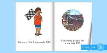 Indianapolis 500 Emergent Reader eBook - United States History, Social Studies, Indianapolis 500, Indiana, Beginning Reader