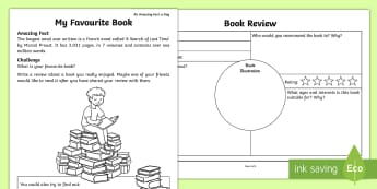 My Favourite Book Activity Sheet - Amazing Fact Of The Day june, activity sheets, worksheet, starter, morning activity, June, book revi
