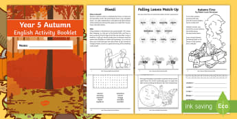 Year 5 Autumn English Activity Booklet - holiday booklet, homework booklet, y5, spag, writing activity, reading activity