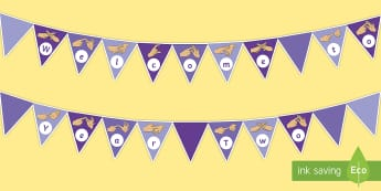 Welcome to Year Two Fingerspelling Display Bunting - year 2, year two, welcome to year two bunting, welcome to year 2 bunting,Welcome To Class, Classroom