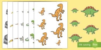 Ficha de ordenar tamaños de dinosaurios - Dinosaurios, pre-historia, dinos, tiranosaurio, estegosaurio, triceratops, proyectos, aprendizaje ba - Dinosaurios, pre-historia, dinos, tiranosaurio, estegosaurio, triceratops, proyectos, aprendizaje ba