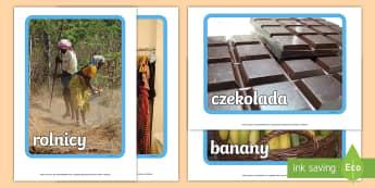 Plakaty ze zdjęciami Sprawiedliwy Handel - Fairtrade, sprawiedliwy handel, sprawiedliwego, handlu, rynek, ekonomia, banany, kawa, kakao, czekol
