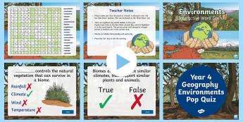 Environments Interactive Activity Pack - Year 4, ACHASSK088, information, Australian Curriculum, Geography, Vocabulary, Display, Language, Fo