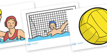 The Olympics Editable Images Water Polo - Water Polo, Olympics, Olympic Games, sports, Olympic, London, images, editable, event, picture, 2012, activity, Olympic torch, medal, Olympic Rings, mascots, flame, compete, events, tennis, athlete, swimming