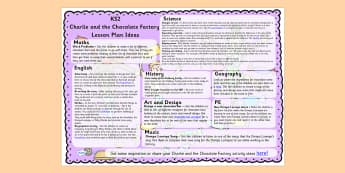 Lesson Plan Ideas KS2 to Support Teaching on Charlie and the Chocolate Factory - KS2