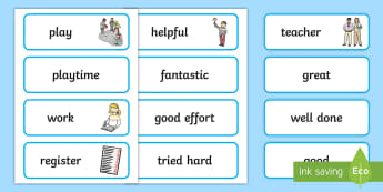 School Role Play Teacher Word Cards - School Role Play Pack, school role play, register, teacher, stickers, certificates, reading diary, role play, display, poster