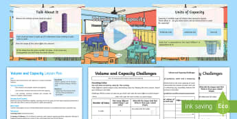 KS2 Volume and Capacity Activity Pack - KS2, Key Stage Two, Key Stage 2, maths, volume and capacity, activity pack, Measure, compare, add an