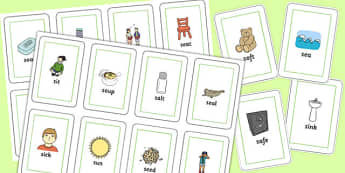 Initial s Sound Flash Cards - initial s, sound, flash cards, initial, s sound, s, flash, cards