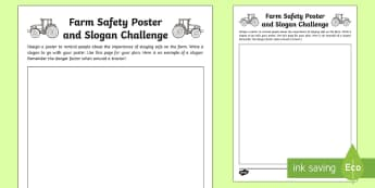 Farm Safety Poster and Slogan Challenge Activity - safety, poster, slogan, design, Northern Ireland, Balmoral Show, 10th-13th May, Farming, Agriculture
