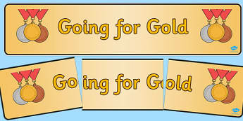 Going for Gold Display Banner - going for gold, display banner, display