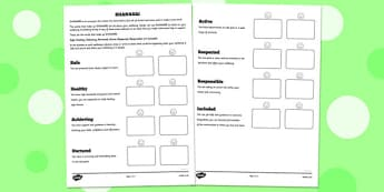 Shanarri Worksheet - shanarri, worksheets, shanarri worksheet, well being