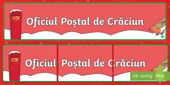 Oficiul Poștal de Crăciun Banner - Crăciunul, jocul de rol, joc de rol, activități, jocuri, comunicare, Romanian