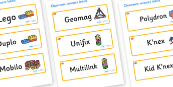 Clownfish Themed Editable Construction Area Resource Labels - Themed Construction resource labels, Label template, Resource Label, Name Labels, Editable Labels, Drawer Labels, KS1 Labels, Foundation Labels, Foundation Stage Labels