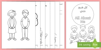 All About Me Activity Booklet Arabic/English - USA, Back to School, Beginning of School, First Day of School, EAL, Arabic.,Arabic-translation