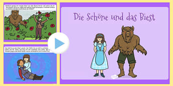 Beauty and the Beast PowerPoint German - beauty, beast, story, tale, traditional, stories, ppt, disney, German, Germany, Deutsche