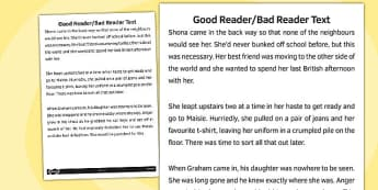 Good Reader Bad Reader Text - good reader, bad reader, text