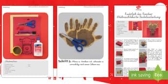 Rudolf Weihnachtskarte Bastel Aktivität - Weihnachten, Bastelm, Weihnachtskarte, Rudolf, Rentier,German