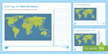 Atlas Easter Egg Hunt  - atlas, easter, egg, hunt, geography, countries, globe