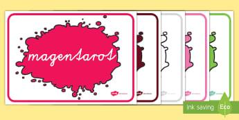 Farben Poster für die Klassenraumgestaltung - Farben Poster für die Klassenraumgestaltung, Farben, Poster, Farben Klassenraumgestaltung, Kunst Kl