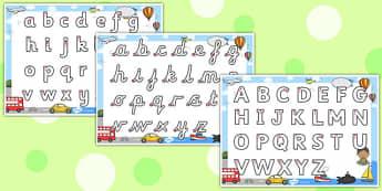Transport Themed Letter Writing Worksheet - letter, writing